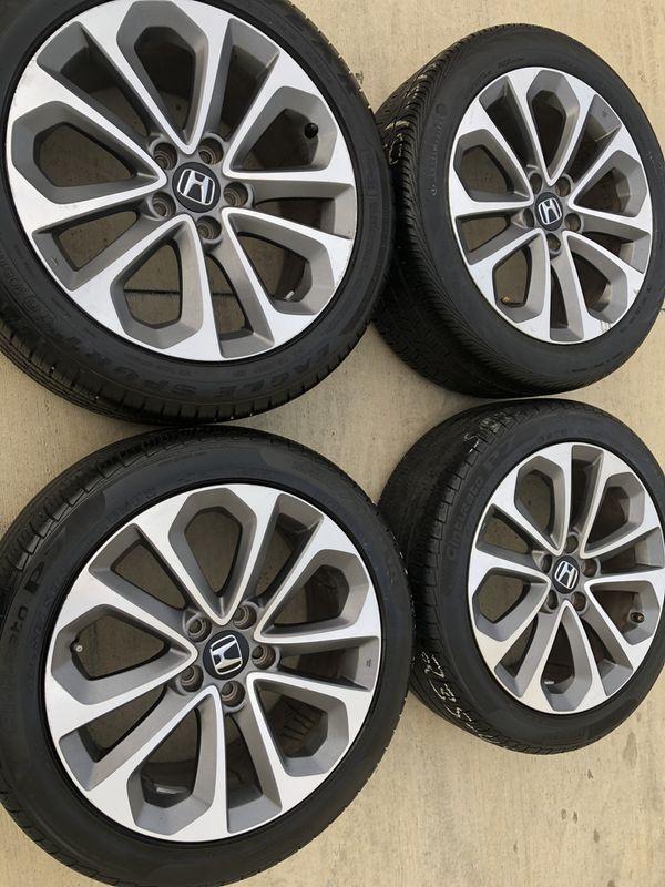 Rims and tires 18x8 5x114.3 fit honda acord sport civic element crv odisey