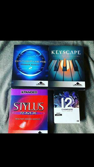 Omnisphere, keyscape, stylus, komplete 12 bundle also includes 10 vst or plugins of your choice for any daw or FL studio for Sale in Washington, DC