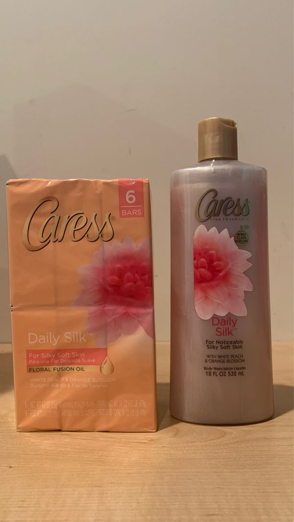 Caress Daily Silk set: 6 bars soap + 18 oz body wash for $8 — ON HOLD FOR PICKUP