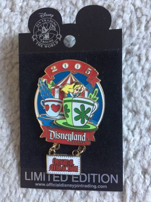 Disney Disneyland Original Attraction Alice In Wonderland Teacups Pin for Sale in Portola Hills, CA