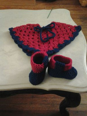 Red & Blue baby poncho for Sale for sale  Brooklyn, NY