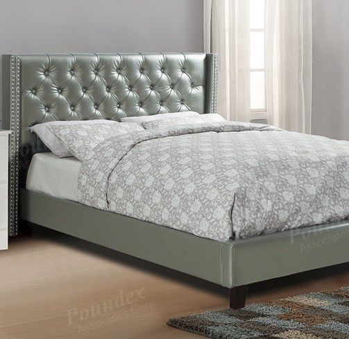 Brand New Queen Size Leather Platform Bed (3 Color Options)