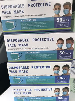 Disposable face masks 50 ct. for Sale in Ewing Township, NJ