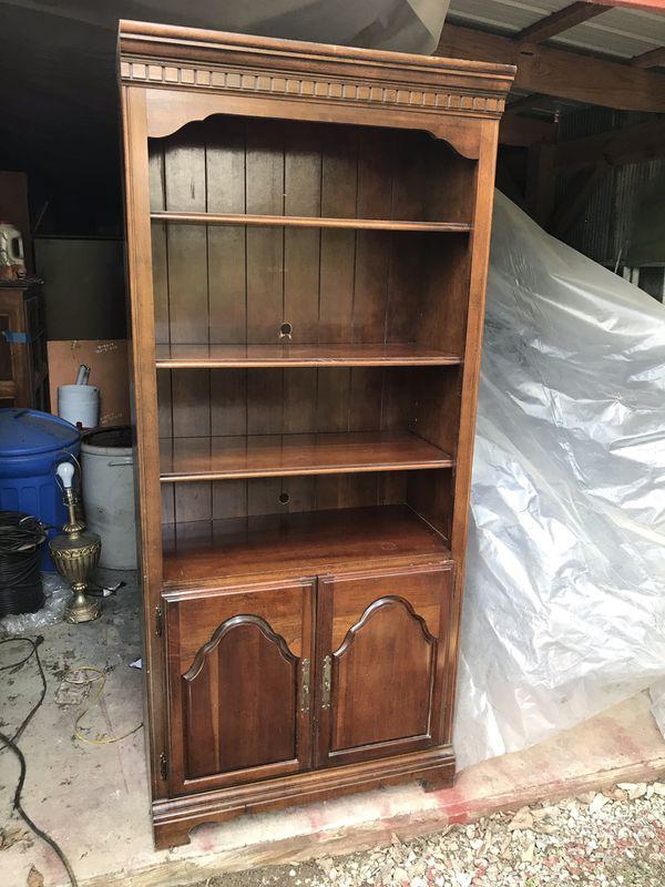 TWO wooden bookshelves