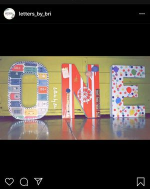 Customized letters for kids birthday party for Sale in Fall River, MA