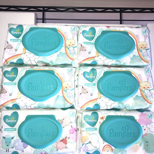Pampers Sensitive Wipes Bundle-6pk++ FREE BONUS