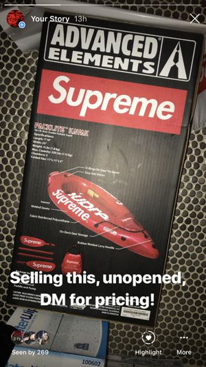 Supreme Kayak SS18 Retail Price!! for Sale in Chantilly, VA