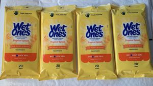 Wet Ones (4) Travel Packs of (20 EA) 80pcs Total for Sale in Jacksonville, NC