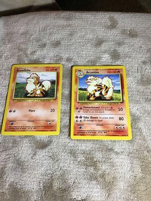 Pokemon, Growlithe, Arcanine, 1st gen for Sale in San Marcos, CA