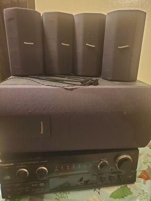 Panasonic AV Control Stereo Receiver and speakers for Sale in Clovis, CA