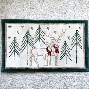 Christmas Holiday Deer Mat Rug Home Decor 🎄 for Sale in Purcellville, VA