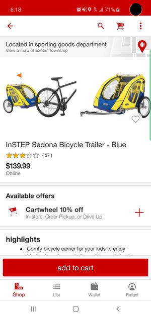 Bike trailer for Sale in Reading, PA