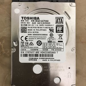 """Toshiba MQ01ACF050 2.5"""" 7200RPM 500GB HDD for laptop , AIO, mini and desktop PC computer for Sale in Hollywood, FL"""