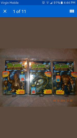 NEW 1996 RARE VARIANT LOT OF 3 GOLD SPAWN FIGURES TREMOR, CLOWN, VIOLATOR KAYBEE TOY STORE EXCLUSIVE for Sale in Valley Stream, NY