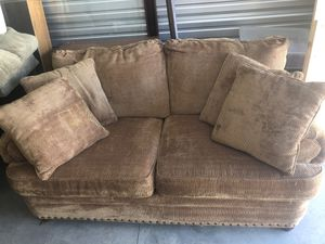 Brown Microfiber Couch for Sale in Tullahoma, TN