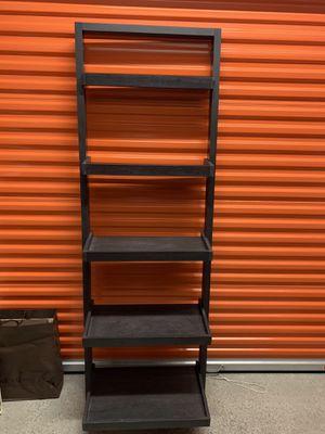 Grey Ladder Shelf Gray 5 shelves for Sale in Miami, FL