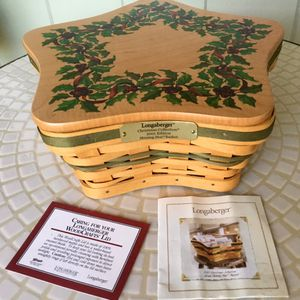 Longaberger Green Shining Star Christmas Basket Set+Lid *LIMITED EDITION* SIGNED & NUMBERED! for Sale in Hanover, PA