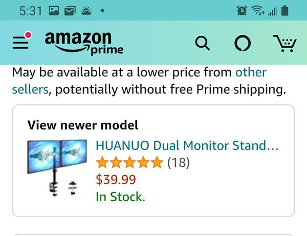 """Dual Monitor Mount (Holds Up to 27"""")"""