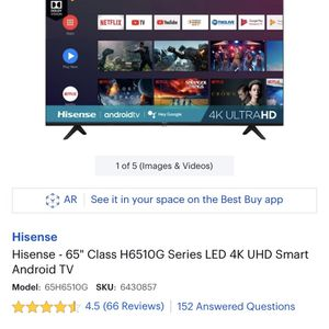 """65"""" 6510G HiSense 4K LED UHD 4k Android Smart TV Brand new DEAL for Sale in San Diego, CA"""