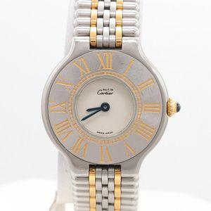 Women CARTIER Must de Cartier 18K Yellow Gold and Stainless Steel Wristwatch for Sale in Arlington, VA