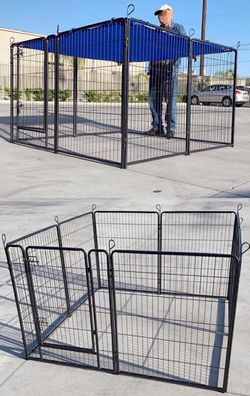 """New 40"""" Tall x 32"""" Wide Panel Heavy Duty 8 Panels Dog Playpen Pet Safety Fence gate valla Para perros (tarp not included) for Sale in Whittier,  CA"""