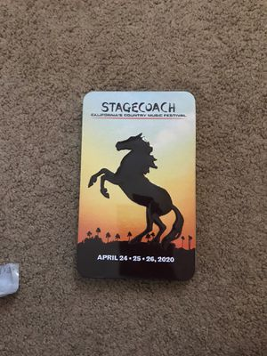 Stage Coach Tickets 3 Day General Admission for Sale in Santa Ana, CA