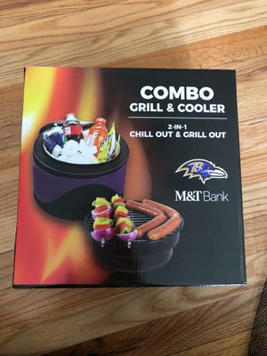 Baltimore Ravens Grill and Cooler combo for Sale in Millersville, MD
