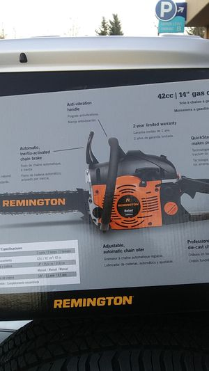 Remington chain saw still in box for Sale in Lynnwood, WA