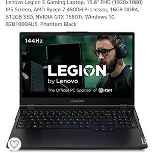 "Lenovo Legion 5 Gaming Laptop, 15.6"" FHD (1920x1080) IPS Screen, AMD Ryzen 7 4800H Processor, 16GB DDR4, 512GB SSD, NVIDIA GTX 1660Ti, Windows 10 for Sale in Long Beach, CA"