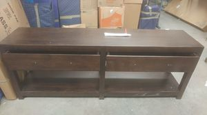 2 drawer solid wood console for Sale in Tampa, FL