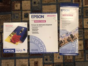 Epson photo paper for Sale in Fresno, CA