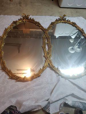 Antique Golden Double mirror. for Sale in West Springfield, VA