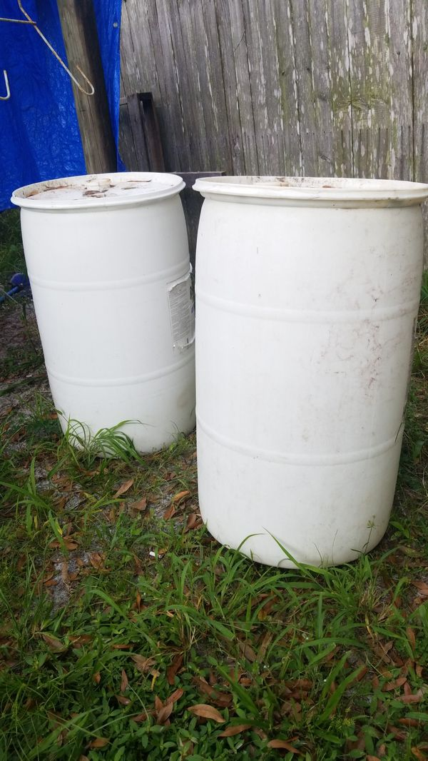 2 New 55 Gal drums with tops
