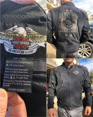Motorcycle riding gear - Harley Davidson leather jacket, leather chaps, travel bag, etc. for Sale in Leander, TX