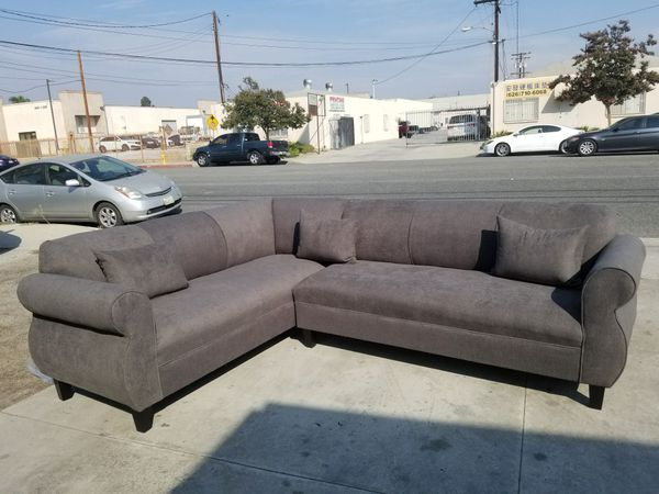 NEW 7X9FT ANNAPOLIS GRANITE FABRIC SECTIONAL COUCHES