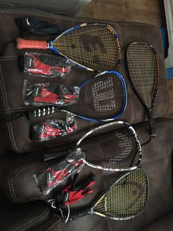 Racquetball racquets with gloves for Sale in Clayton,  NC
