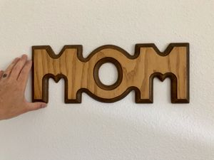Retro Wooden Carved MOM Sign/ Western Farmhouse Wall Sign Decor/ Gift for Mom for Sale in Boise, ID