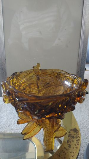 Antique Amber glass candy dish for Sale in Forestville, MD