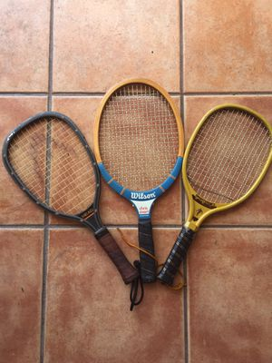 Tennis/Racked ball rackets (set of 3) and case for Sale in Miami, FL