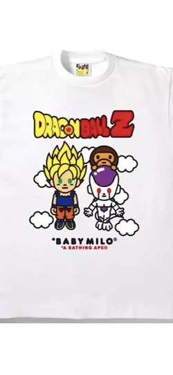 Rare Bape x DBZ Goku And Frieza White Tee for Sale in San Jose,  CA