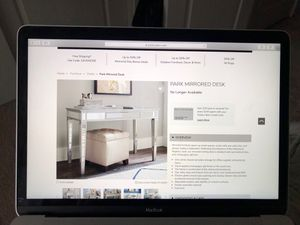 Pottery Barn Park Mirrored Glass Desk for Sale in Bothell, WA