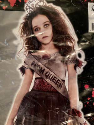 Prom Queen Corpse Zombie Halloween Costume Child Size Large 12-14 MISSING SASH & WRIST CORSAGE for Sale in Gilbert, AZ
