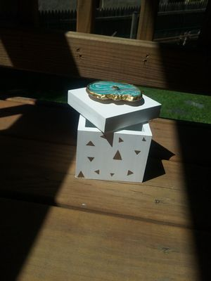 Custom geode small wooden storage box for Sale in Rockville, MD