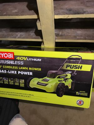RYOBI 40v Lithium Mower & 18v Trimmer for Sale in Enfield, CT