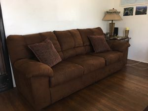Brown suede couch & recliner for Sale in San Diego, CA