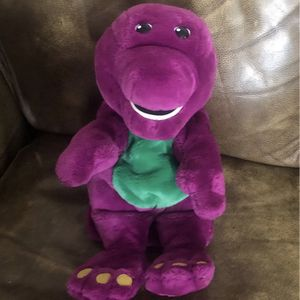 "14"" Interactive Plush Barney Actimates Microsoft Dinosaur Talking Doll Toy 1997. Tested and fully functioning. Sounds are clear. Arms and head mov for Sale in Calabasas, CA"
