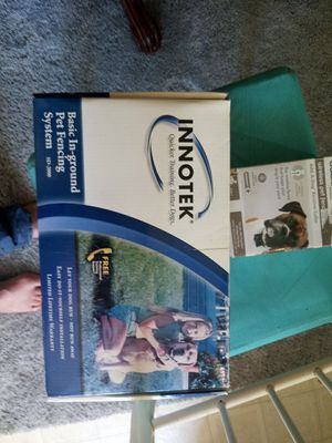 Basic in ground pet fencing by innotek new in the box we did not use as well new in the box add a dog reciever collar by guardian for Sale in Cincinnati, OH