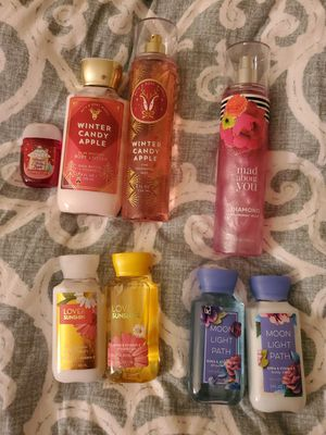 Bath and body works lotion, body wash, fragrance mist, shimmer mist, pocket bac for Sale in Trenton, NJ