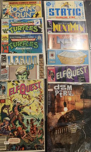 Assorted Comic Books - 11 Books - Elf Quest, TMNT, Next Men, Doom Patrol, Etc. for Sale in Englishtown, NJ