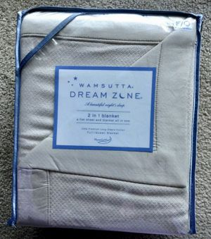 NEW! Gorgeous! Wamsutta Dream Zone Blanket Sheet Full / Queen Taupe Micro Cotton for Sale in Gaithersburg, MD
